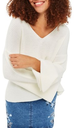Women's Topshop Lattice Back Sweater $65 thestylecure.com
