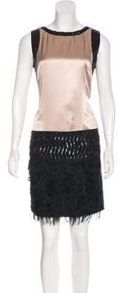 Philosophy di Alberta Ferretti Silk Sequin Dress