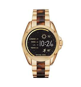 Michael Kors Bradshaw Gold-Tone & Tortoise Acetate Display Watch