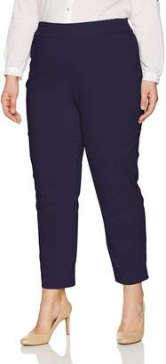 Alfred Dunner Women's Plus Size Short Allure Stretch Pant Slim Fit Tummy Control