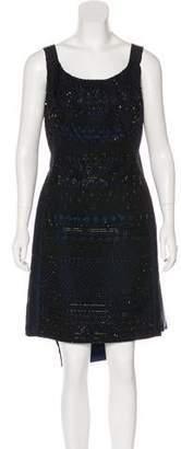 Oscar de la Renta Beaded Knee-Length Dress w/ Tags