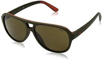 Polo Ralph Lauren Men's Injected Man Non-Polarized Iridium Aviator Sunglasses