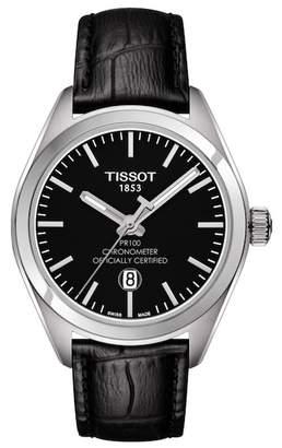 Tissot Women's PR 100 Leather Watch, 33mm