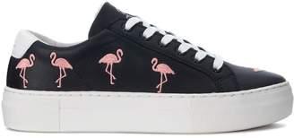 Flamingos Moa Flamingo Black Leather Sneaker With