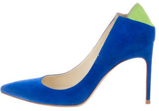 Brian Atwood Bicolor Pointed-Toe Pumps $125 thestylecure.com