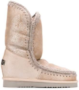 Mou metallic snow boots
