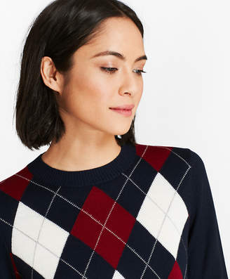 Brooks Brothers Merino Wool Argyle Sweater