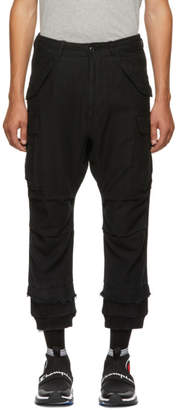 R 13 Black Harem Cargo Pants