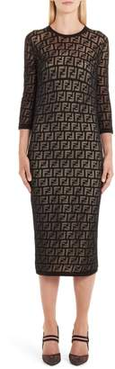 Fendi FF Devore Knit Dress