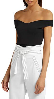 Missguided Bardot Crepe Bodysuit