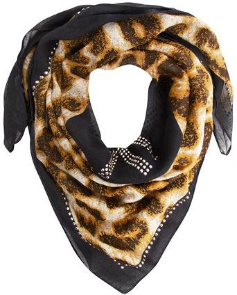Dorothy Perkins Kardashian Kollection studded leopard print scarf