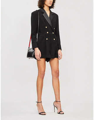 c46d3fd6660 The Kooples Double-breasted satin and crepe playsuit