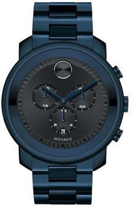 Movado 44mm Bold Chronograph Watch, Blue $995 thestylecure.com