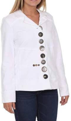 Neon Buddha White Button Jacket $103.95 thestylecure.com