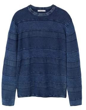 Mango man MANGO MAN Stripe textured sweater