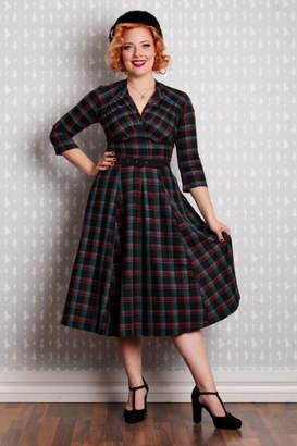 Miss Candyfloss Della Tartan Swing-Dress
