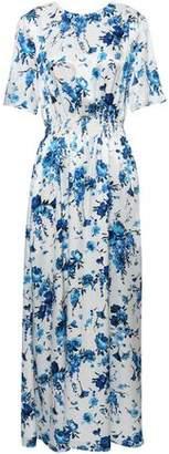 ADAM by Adam Lippes Floral-print Hammered-silk Maxi Dress