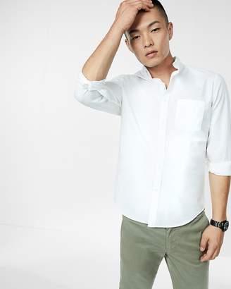 Express Slim Garment Dyed Button Collar Shirt