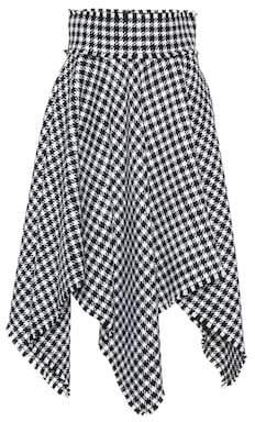 Dolce & Gabbana Houndstooth wool-blend skirt