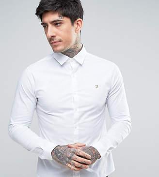 Farah Stretch Skinny Fit Poplin Shirt in White