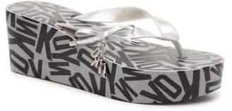 DKNY Nola Wedge Flip Flop