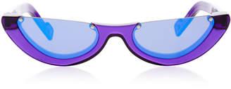 Cat Eye PAWAKA Empat Cat-Eye Acetate Mirrored Sunglasses