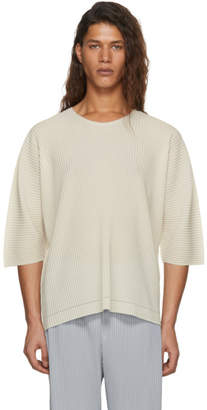 Issey Miyake Homme Plisse Off-White Oversized APOC T-Shirt
