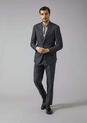 Giorgio Armani Soft Line Suit In Check Fabric