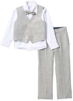 Isaac Mizrahi Plaid Vest Set - Set of 4 (Little Boys)