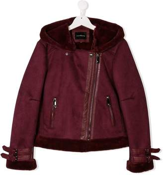 John Richmond Kids TEEN shearling-lined jacket