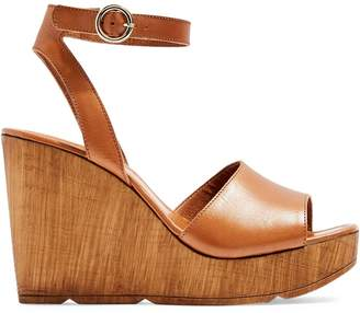 Topshop Leather Wedge Sandals