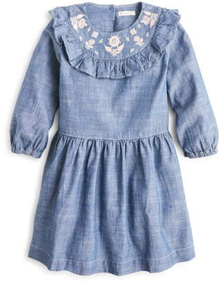 J.Crew crewcuts by Embroidered Chambray Dress