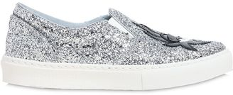 30mm Kiss Glitter Slip-On Sneakers $310 thestylecure.com