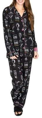 PJ Salvage Two-Piece Graphic Cotton Pyjama Set