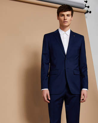 Ted Baker CASTLEJ Slim fit plain wool suit jacket
