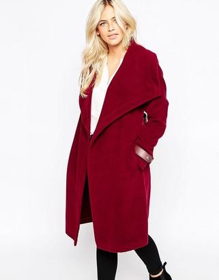 Oasis Two Tone Drape Wrap Coat $168 thestylecure.com
