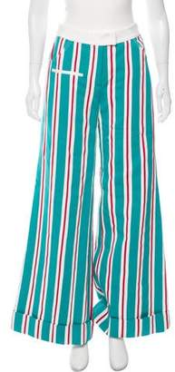Rosie Assoulin Striped Mid-Rise Pants