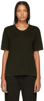 Raquel Allegra Green Sueded Baby Jersey T-Shirt