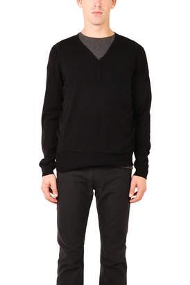 327fd57959a06 Helmut Lang Merino Henley Sweater Black
