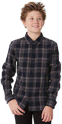 Rip Curl New Boys Kids Boys Surge Ls Shirt Long Sleeve Cotton Polyester Black
