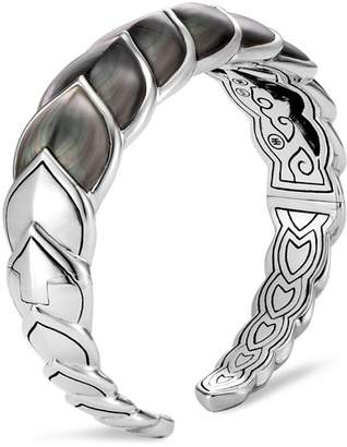 John Hardy Sterling Silver Legends Naga Mother-of-Pearl Medium Flex Cuff