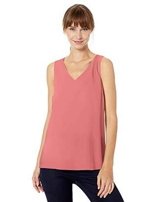 Lark & Ro Amazon Brand Women's Sleeveless Layering Tank - Crew and V-Neck