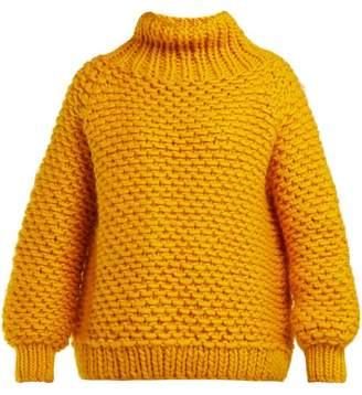 I Love Mr Mittens - Chunky Knit Wool Sweater - Womens - Yellow