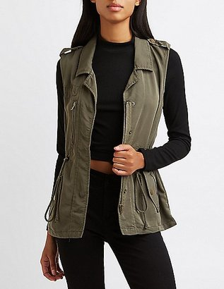 Lightweight Drawstring Utility Vest $34.99 thestylecure.com