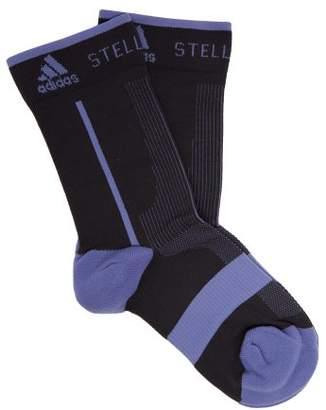 adidas by Stella McCartney Logo Jacquard Ankle Socks - Womens - Black Purple