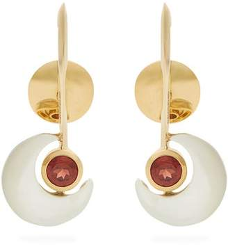 Kate Moss Ara Vartanian - X Garnet & Gold Earrings - Womens - White