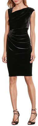 Lauren Ralph Lauren Stretch Velvet Sheath Dress $99 thestylecure.com