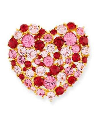 Kenneth Jay Lane Crystal Heart Pin