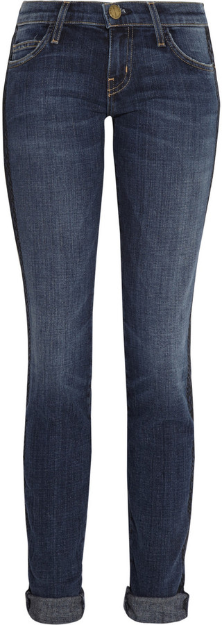 Current/Elliott The Rolled Skinny cropped skinny jeans