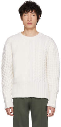 Thom Browne Off-White Funmix Chunky Knit Sweater